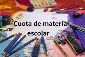 Cuota de material escolar
